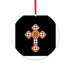 Floral Cross Ornament
