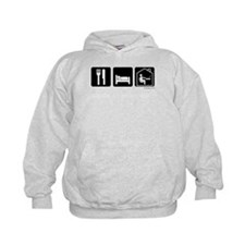 Eat, Sleep, Work from Home dark shirt Hoodie