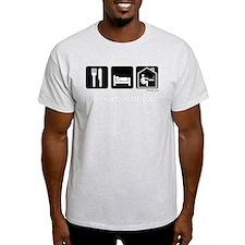 Eat, Sleep, Work from Home dark shirt T-Shirt