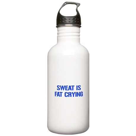 sweat-is-just-fat-crying-gun-blue Water Bottle