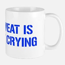 sweat-is-just-fat-crying-gun-blue Mug