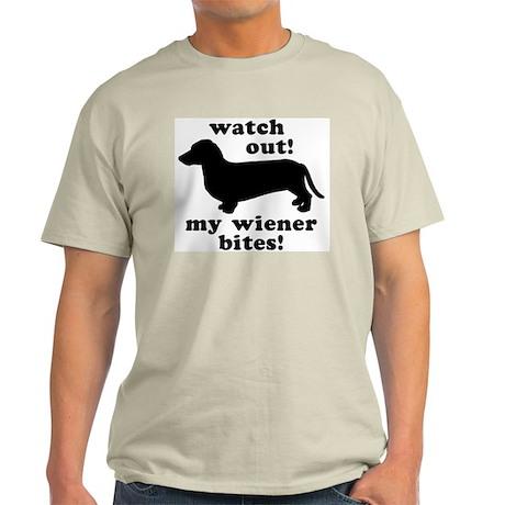 My Wiener Bites Ash Grey T-Shirt