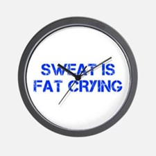 sweat-is-just-fat-crying-cap-blue Wall Clock