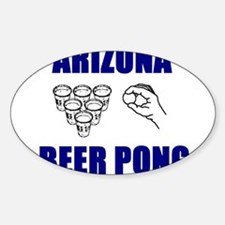 Arizona Beer Pong Oval Decal