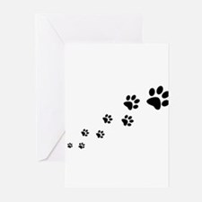 Paw Prints Greeting Cards (Pk of 10)