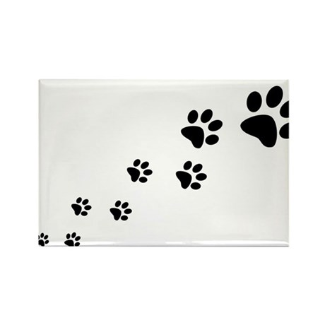 Paw Prints Rectangle Magnet (10 pack)