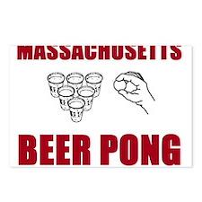 Massachusettes Beer Pong Postcards (Package of 8)