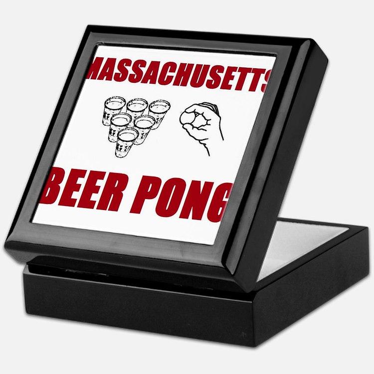 Massachusettes Beer Pong Keepsake Box