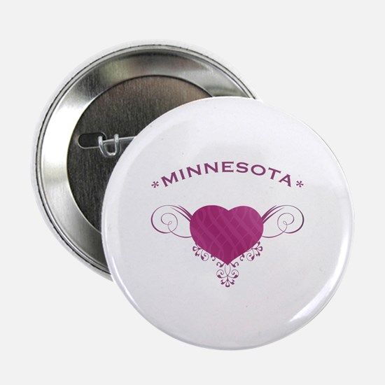 """Minnesota State (Heart) Gifts 2.25"""" Button"""