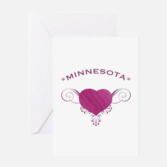 Minnesota State (Heart) Gifts Greeting Card