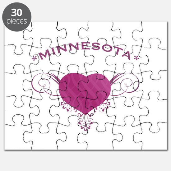 Minnesota State (Heart) Gifts Puzzle