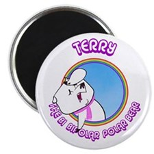 Terry the Bi Bipolar Polar Bear Magnet - Depressed