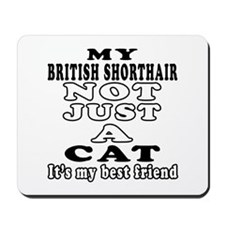 British Shorthair Cat Designs Mousepad