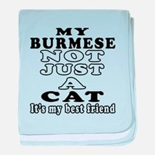 Burmese Cat Designs baby blanket