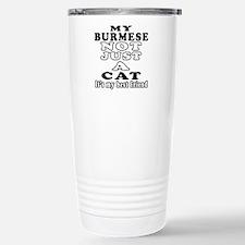 Burmese Cat Designs Travel Mug