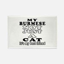Burmese Cat Designs Rectangle Magnet