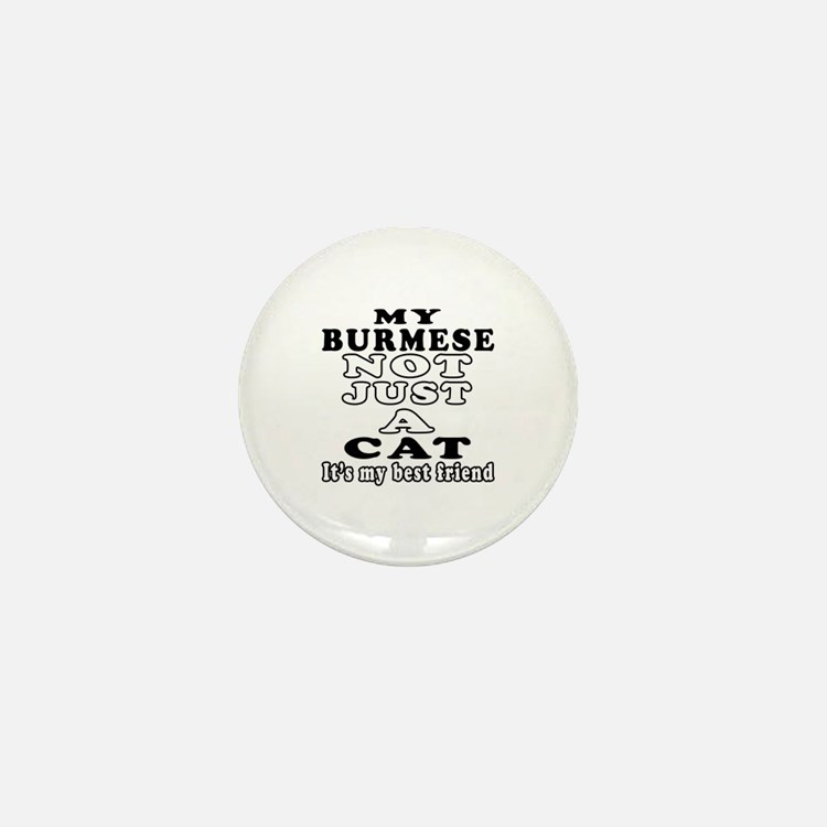 Burmese Cat Designs Mini Button