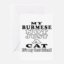 Burmese Cat Designs Greeting Card