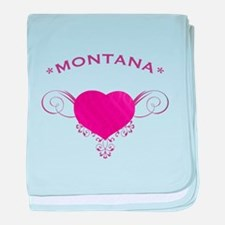 Montana State (Heart) Gifts baby blanket