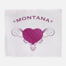 Montana State (Heart) Gifts Throw Blanket