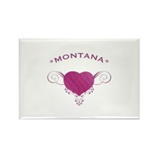 Montana State (Heart) Gifts Rectangle Magnet