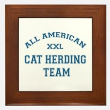 AA Cat Herding Team Framed Tile