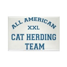 AA Cat Herding Team Rectangle Magnet