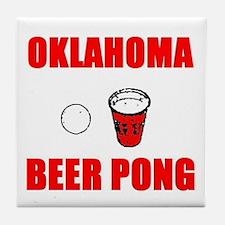Oklahoma Beer Pong Tile Coaster