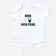 Ohio Beer Pong Infant Bodysuit