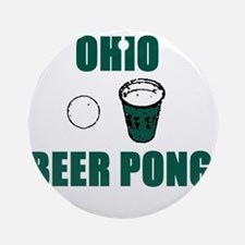 Ohio Beer Pong Ornament (Round)