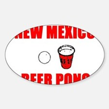 New Mexico Beer Pong Oval Decal