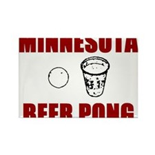 Minnesota Beer Pong Rectangle Magnet