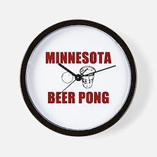 Minnesota Beer Pong Wall Clock