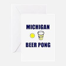 Michigan Beer Pong Greeting Cards (Pk of 10)
