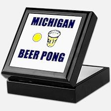 Michigan Beer Pong Keepsake Box
