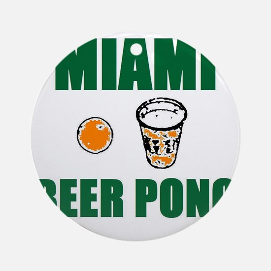 Miami Beer Pong Ornament (Round)