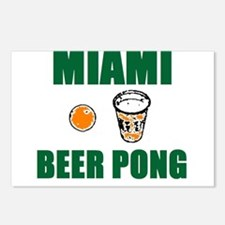 Miami Beer Pong Postcards (Package of 8)