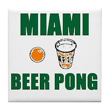 Miami Beer Pong Tile Coaster