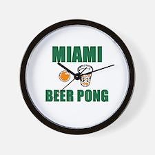 Miami Beer Pong Wall Clock