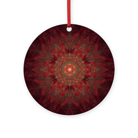 Patent Star Dark Holiday Ornament (Round)