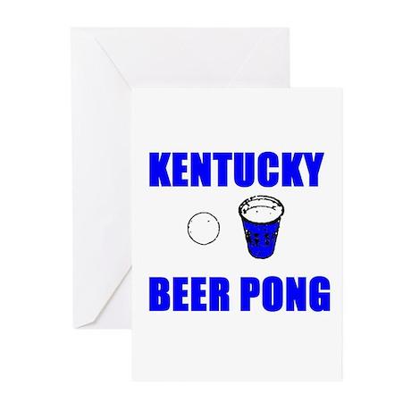 Kentucky Beer Pong Greeting Cards (Pk of 10)