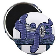 BEAR CONTENTMENT-BLUE/GREY Magnet