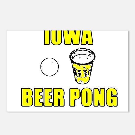 Iowa Beer Pong Postcards (Package of 8)