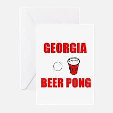 Georgia Beer Pong Greeting Cards (Pk of 10)