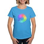 Day-Glo Flowers Women's Dark T-Shirt