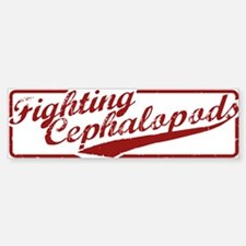 Miskatonic Fighting Cephalopods Bumper Bumper Bumper Sticker