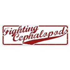 Miskatonic Fighting Cephalopods Bumper Bumper Sticker