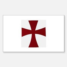 Knights Templer Rectangle Decal