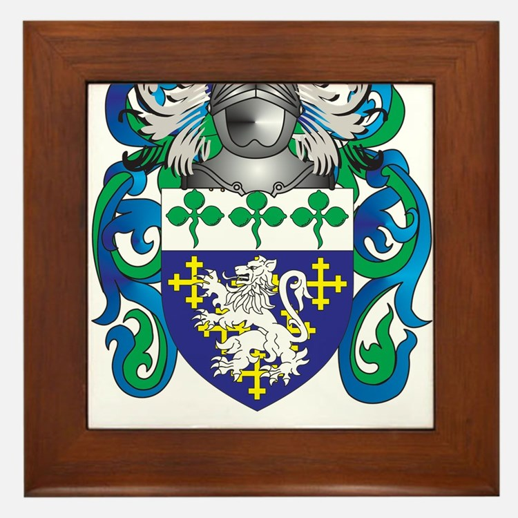 Hutchinson Coat of Arms (Family Crest) Framed Tile