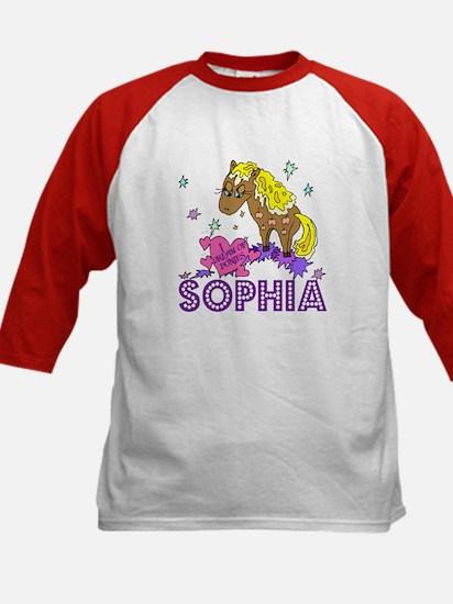 I Dream Of Ponies Sophia Kids Baseball Jersey